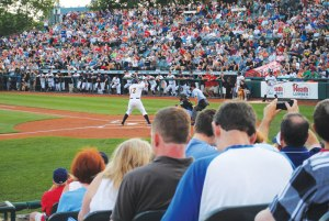 Alex Rodriguez, the Yankees' third-baseman, steps up to the plate on Aug. 3 in Trenton. Photo by Lesley Le Platte.