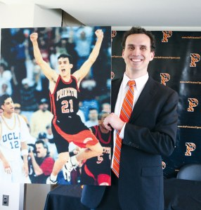 Mitch Henderson '98, who won three Ivy League championships as a player at Princeton, is looking to capture his first Ivy crown as coach. Courtesy of Princeton University Office of Communications.