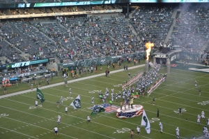 The Jets enter MetLife Stadium for their preseason opener against the Colts on Aug. 7.