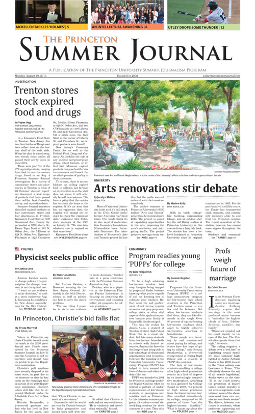 The Princeton Summer Journal 2015
